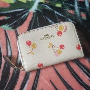 COACH Cherry Print Credit Card Wallet